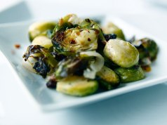 Balsamic Mustard Roasted Brussels Sprouts