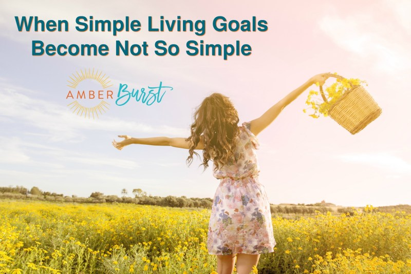 Simple living goals