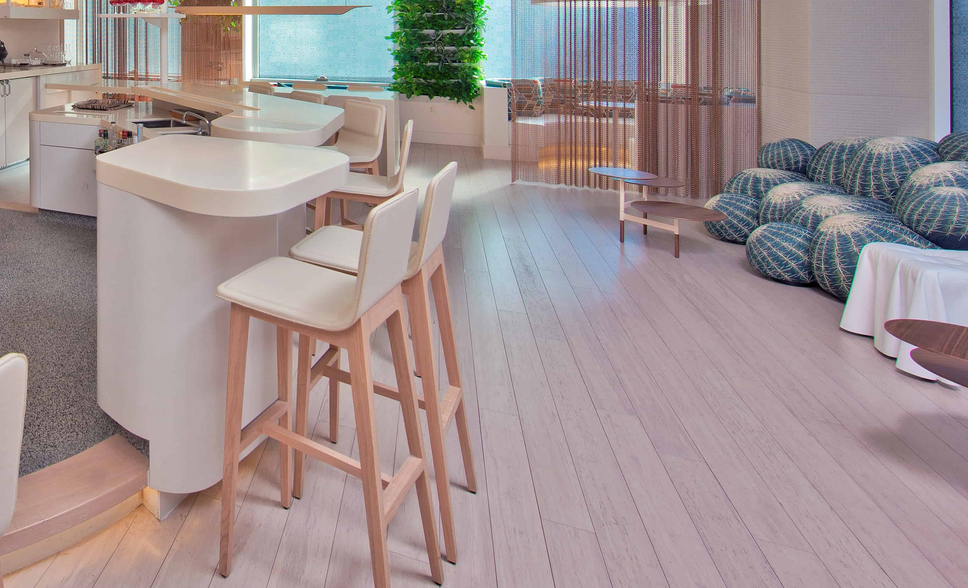 Ambient Bamboo Floors  Rustic Ivory White Flooring C4