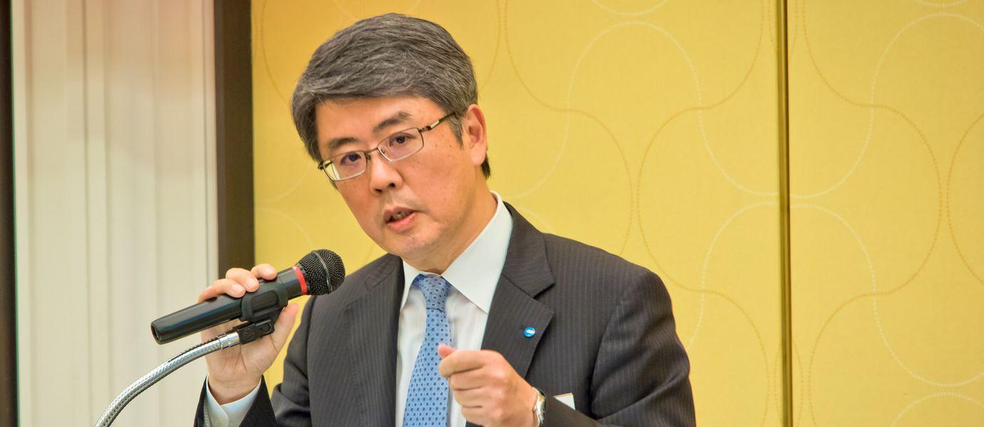 Mr. Tsukasa Wakashima, Senior Executive Officer, Konica Minolta, Inc Header
