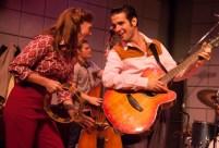 """Million Dollar Quartet,"" by Colin Escott and Floyd Mutrux, at Florida Studio Theatre in Sarasota, Fla., through Jan. 8. Pictured: Michelle Pruiett, Kroy Presley, and Joe Boover. (Photo by Matthew Holler)"