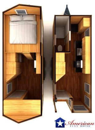 Pensacola American Tiny House Interior Inside Overhead