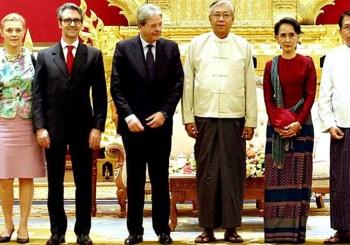 gentiloni in Myanmar 2