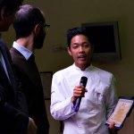 Un momento del conferimento del Diploma ALMA a Yeko Naing