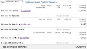 Google Adsense Stats June 2010