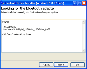 bluetooth installer screenshot