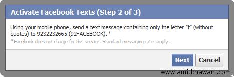 Send Text Message Facebook