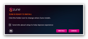 Zune Installation Folder