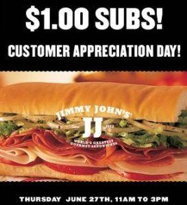 jimmy johns appreciation day