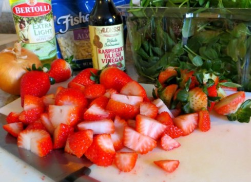 InProcess strawberry salad