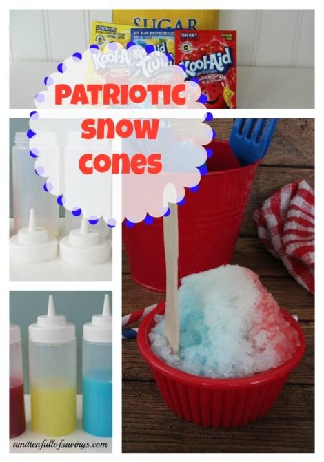 patriotic snow cones recipe Collage