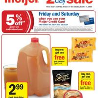 Meijer Ad:  2 Day Weekend Sale 10/24-10/25