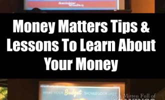 Money Matters Tips & Lessons To Learn About Your Money