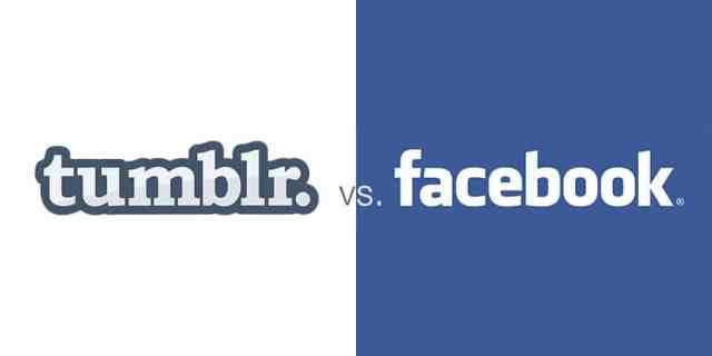 tumblr vs facebook