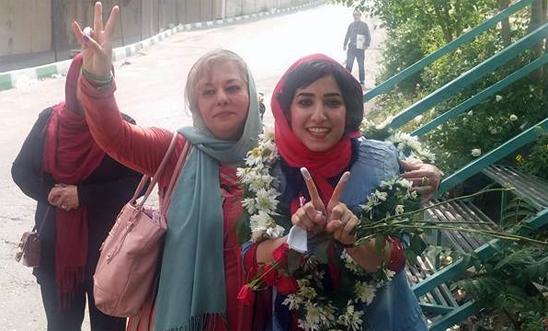 Atena Farghdani walks free on 3 May 2016