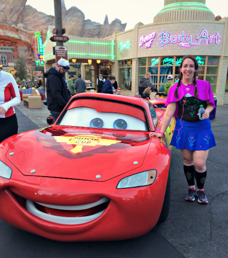With Lightning McQueen #DisneySMMoms