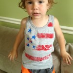 Easy 4th of July Shirt for Monkey.
