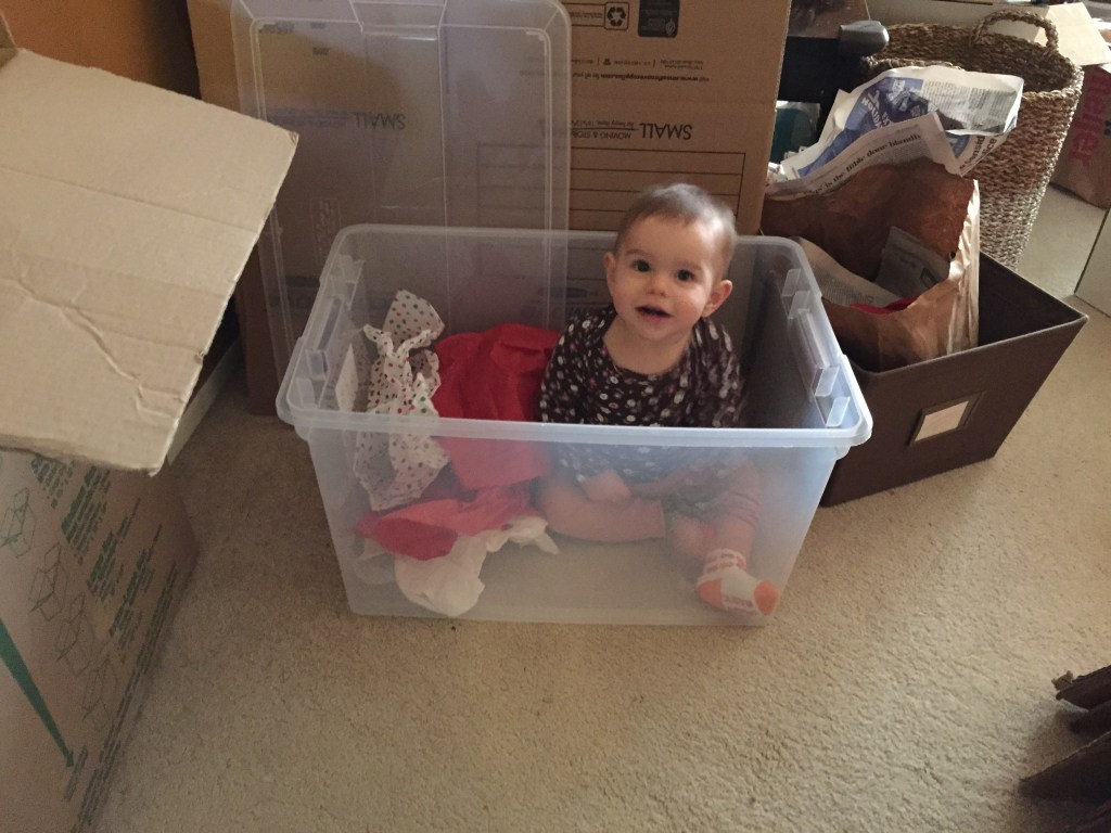 How baby girl helped with the packing.