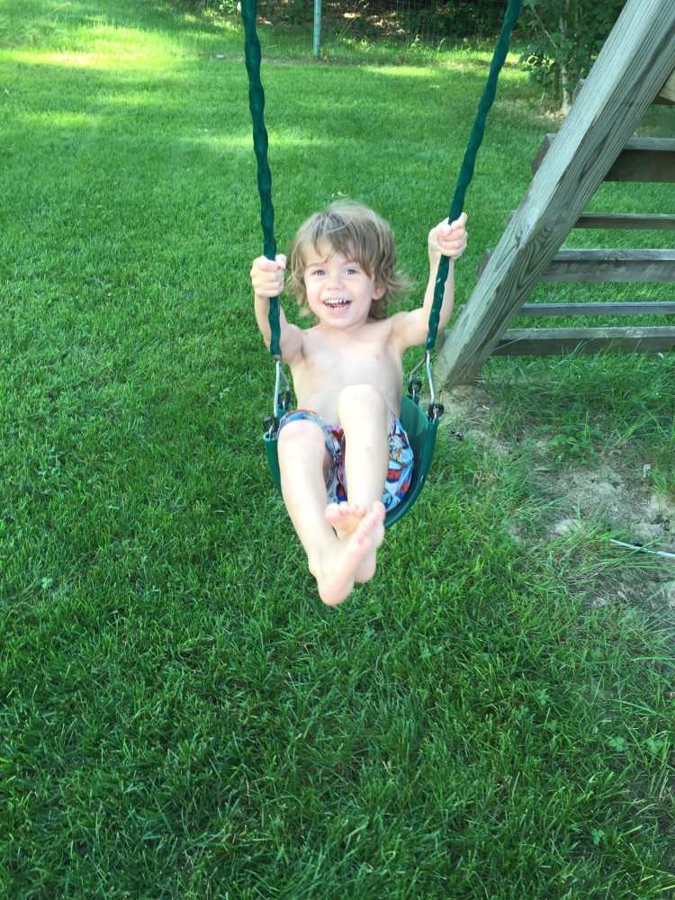 He's pretty proud of his newfound swinging abilities.