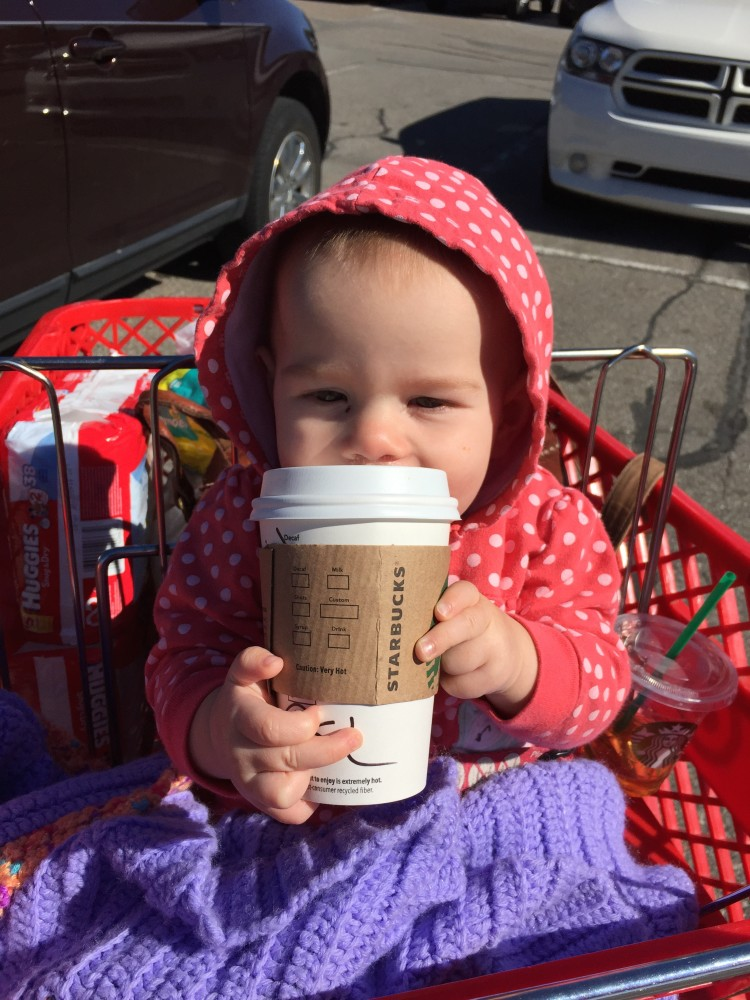disclaimer: I do not actually give toddlers lattes.