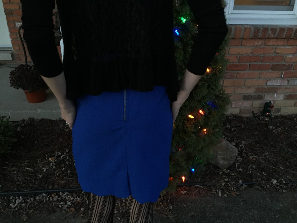Heidi Scallop Hem Pencil Skirt, Brixon Ivy December Stitch Fix // www.amonkeyandhismama.com