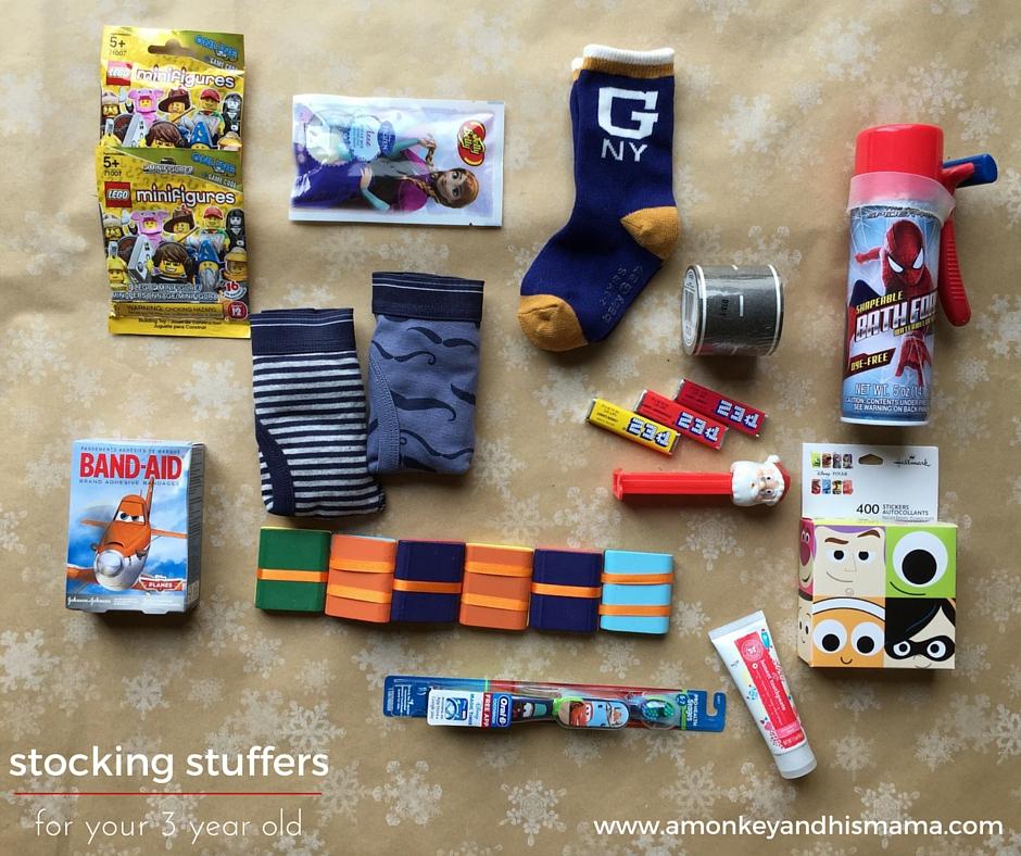 stocking stuffer ideas for your 3 year old // www.amonkeyandhismama.com