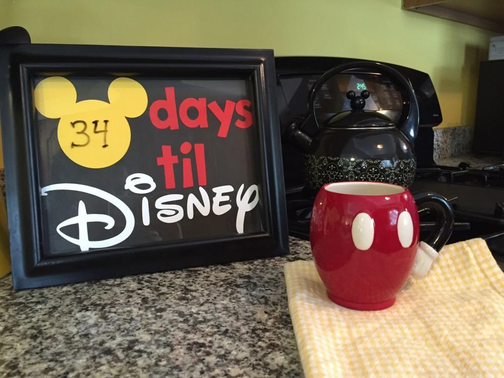 dry erase disney world countdown DIY // a monkey and his mama