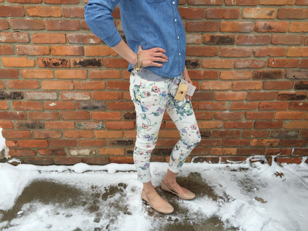 Avril Floral Printed Skinny Jeans by Dear John March Stitch Fix 2016 // a monkey and his mama