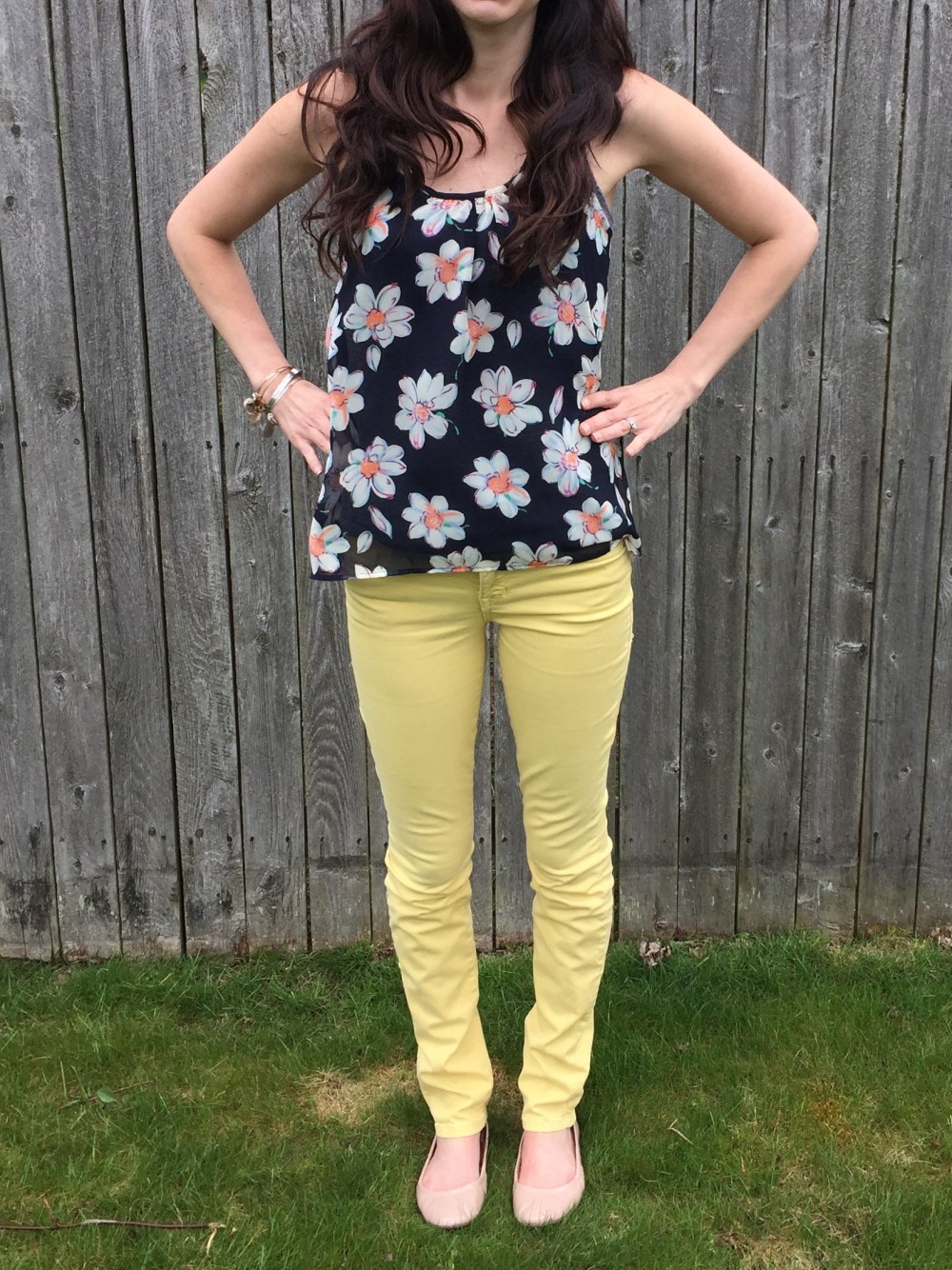 Nellie Scoopneck Top, Papermoon with yellow level 99 jeans, from my May 2016 Stitch Fix // a monkey and his mama