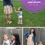 Mama + Mini Style, Spring Floral and Denim.