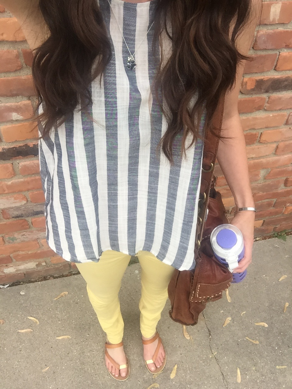 what mama wore // yellow level 99 skinnies from Stitch Fix // a monkey and his mama