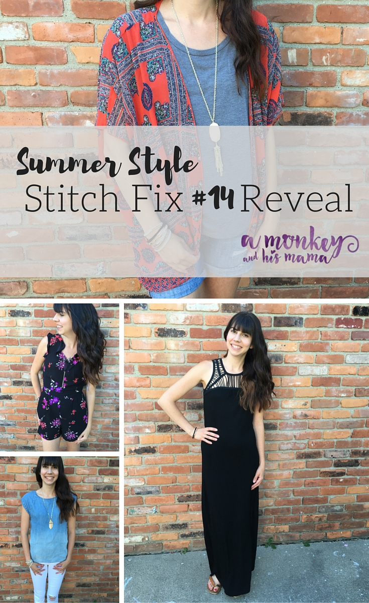 Summer Stitch Fix Style, Stitch Fix Reveal a monkey and his mama