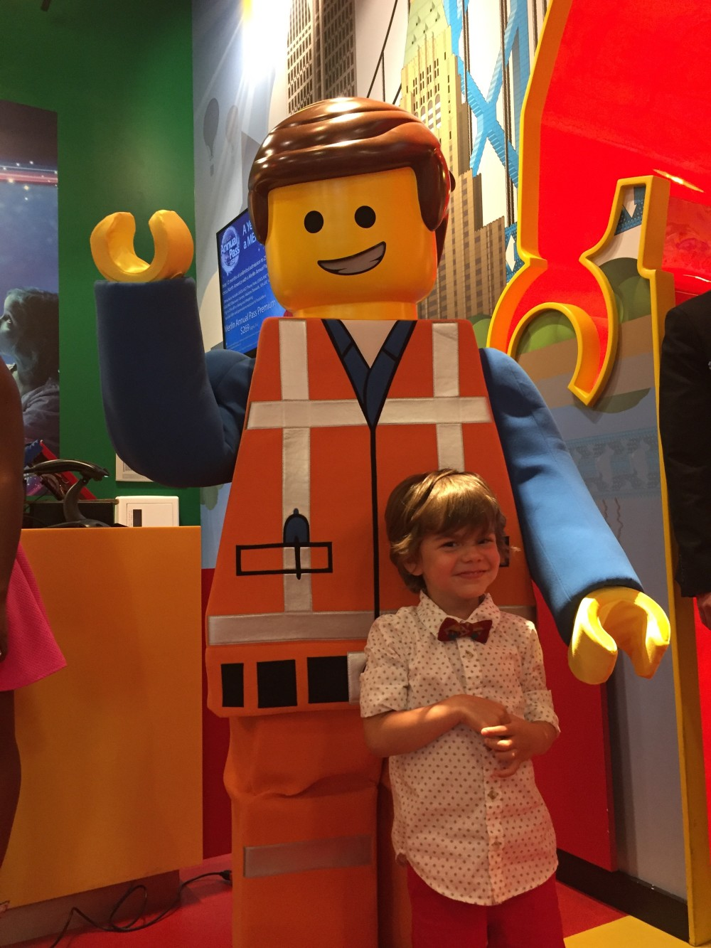 The LEGO Movie 4D Premiere at LEGOLAND Discovery Center Michigan // a monkey and his mama
