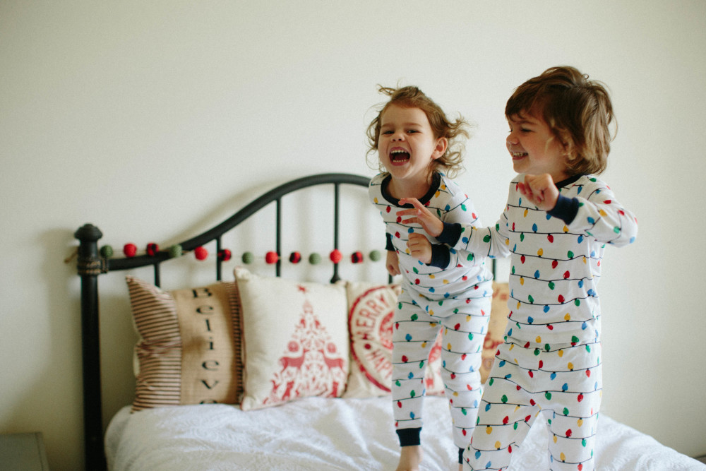 christmas pj photo session // a monkey and his mama