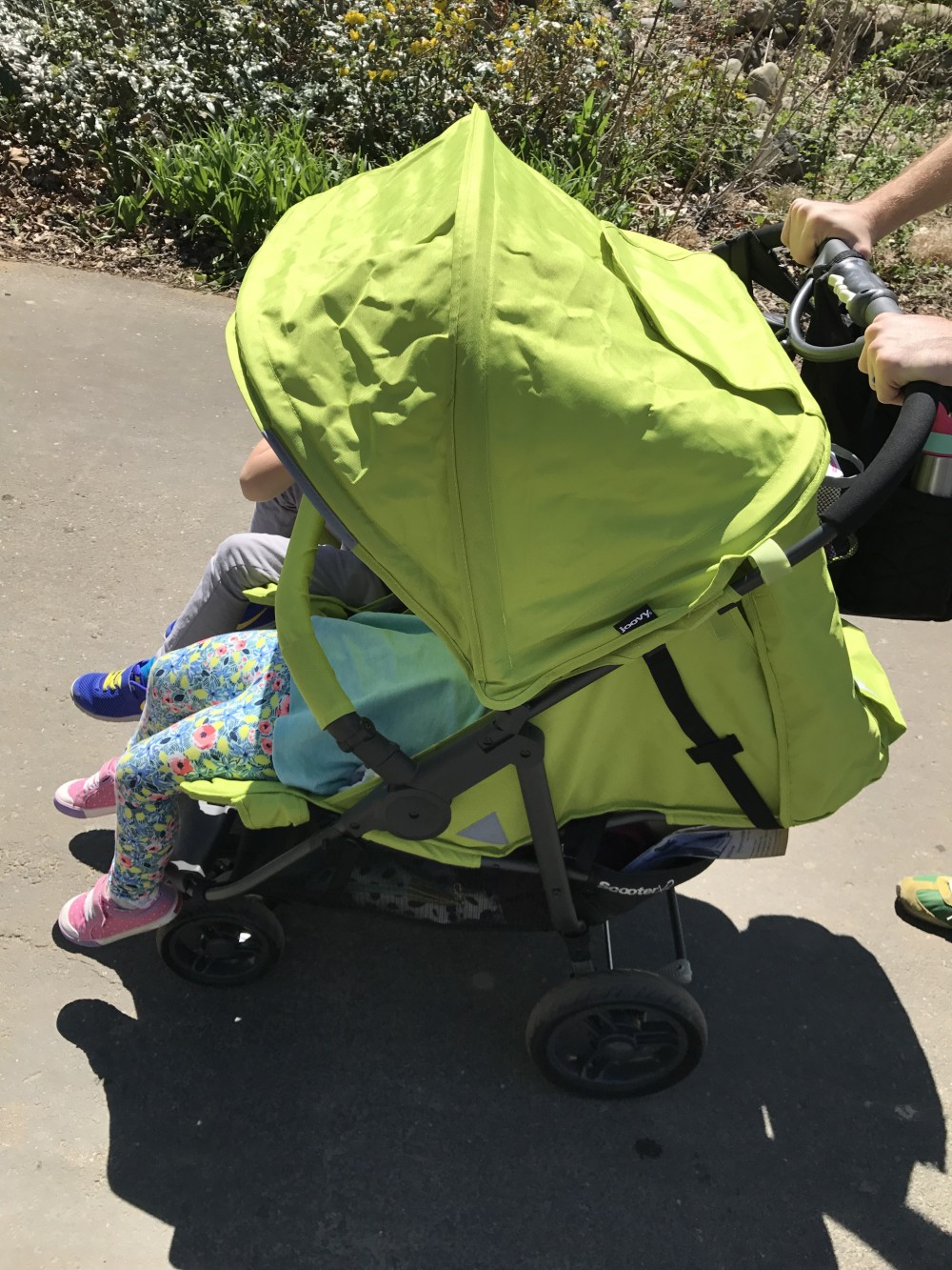 joovy double stroller side by side