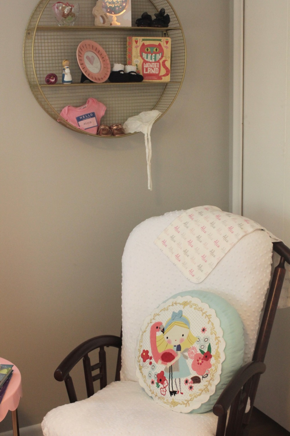 alice in wonderland baby girl room