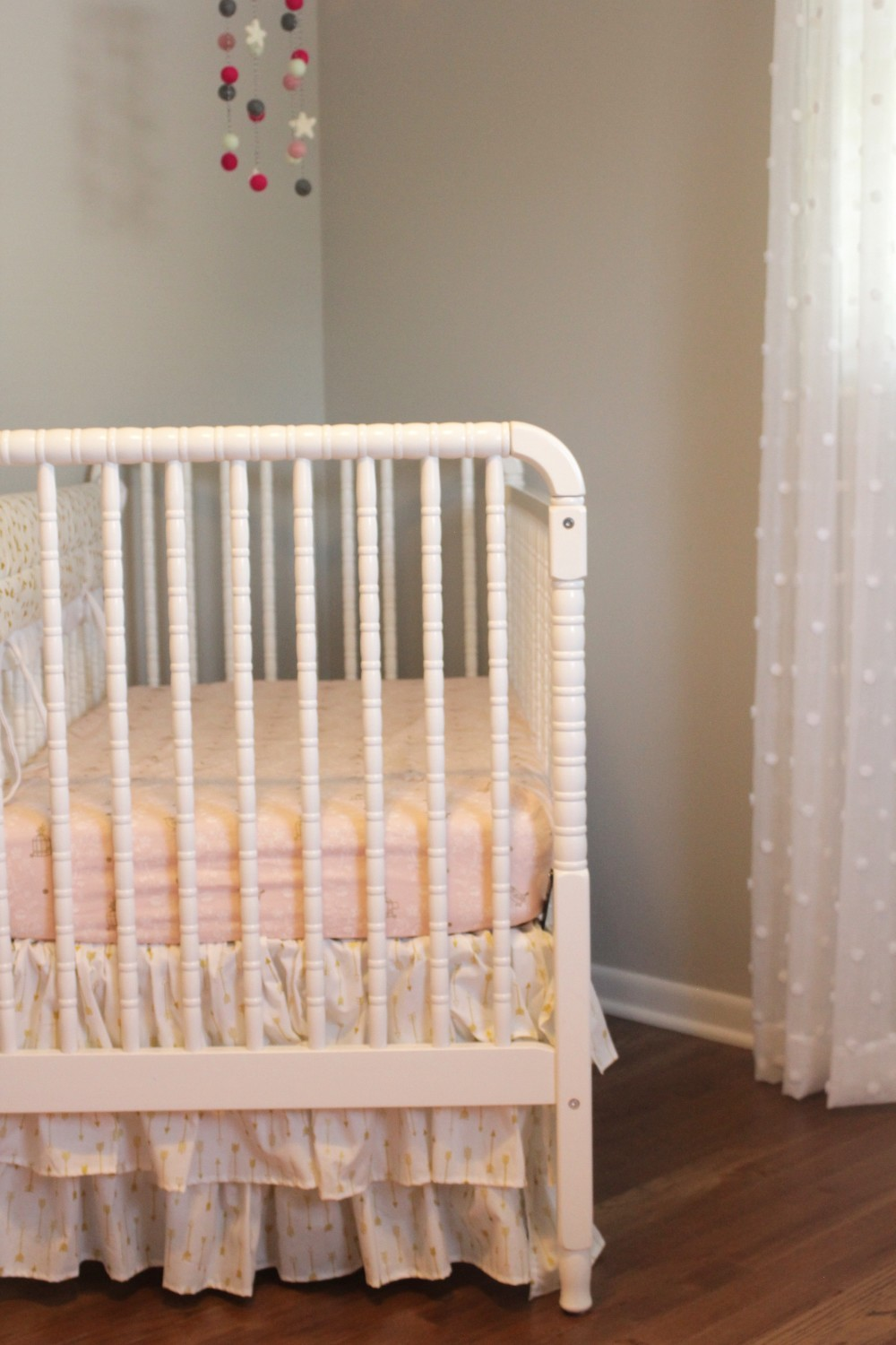 gold arrow crib skirt