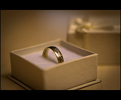 wedding ring in jewelry box