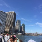 The view back to Manhattan