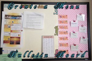Create a Menu Bulletin Board