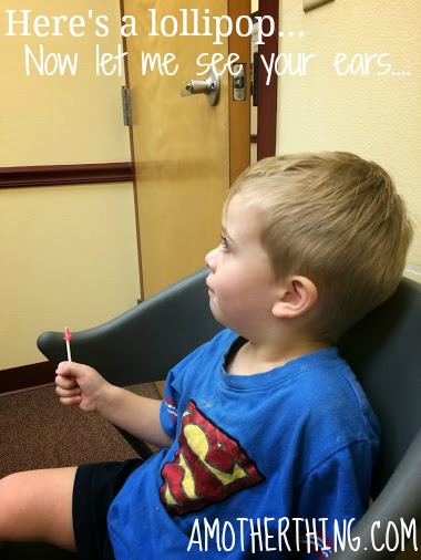 Enticing a wary patient with a lollipop