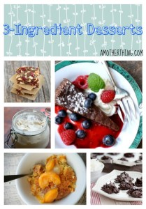 3-ingredient desserts - awesome collection of easy, cheap desserts