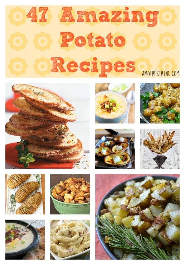 47 Amazing Potato Recipes. Baked, Fried, Mashed, Soups, Casseroles and more!