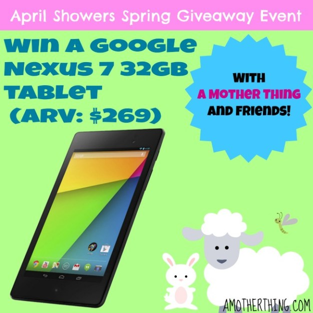 Win a Google Nexus 7 32GB (ARV: $269) at amotherthing.com
