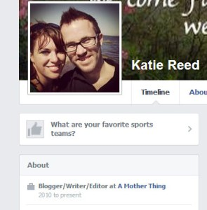 Using Facebook to Promote Your Blog - Add your blog to your employment section on personal profile