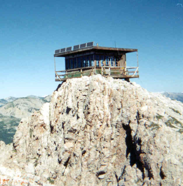 This Jumbo Fire Lookout, the other main Forest Service lookout in the Bob Marshall.
