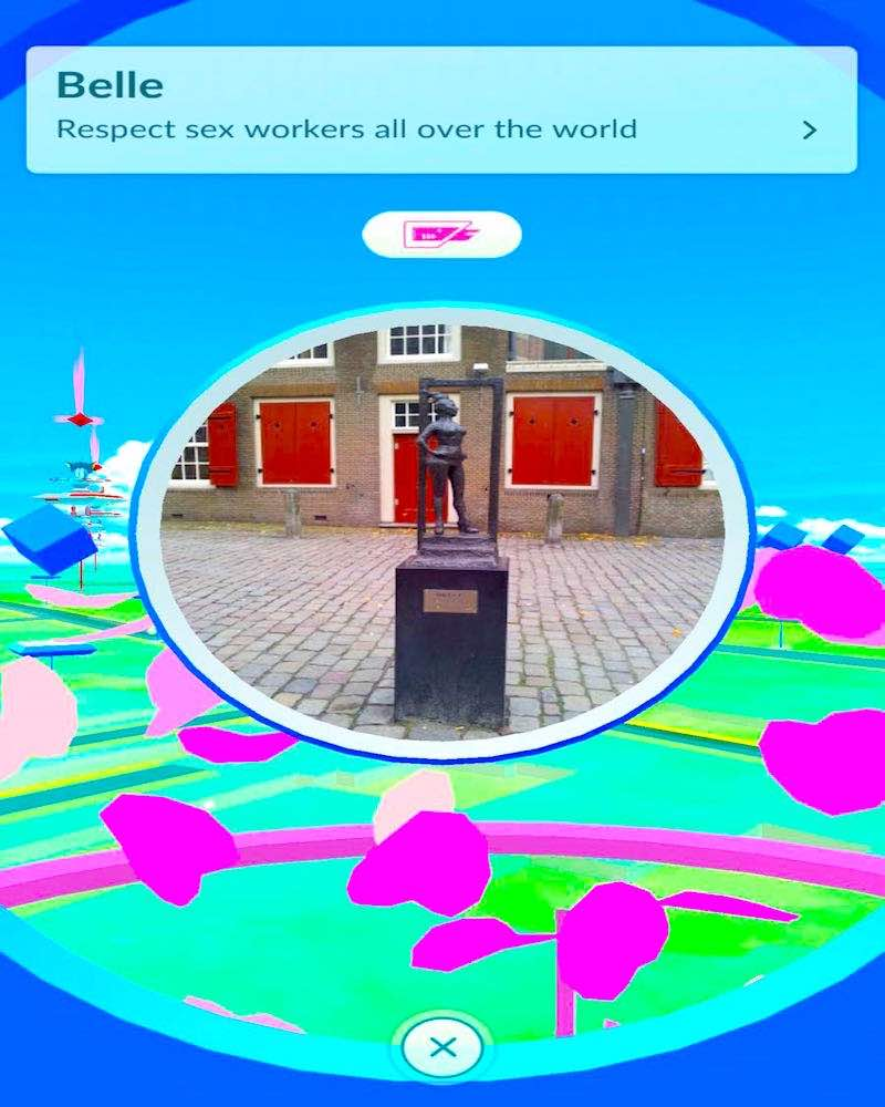 Pokestops in the Red Light District Amsterdam