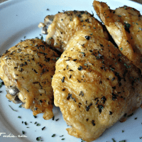 Easy Oven Fried Chicken Thighs with Perfectly Crispy Skin