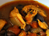 Slow Cooker Black Bean Chicken Chili