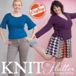 All of these lovely photos, by Karen Pearson, are from my Knit to Flatter book and are used with permission.
